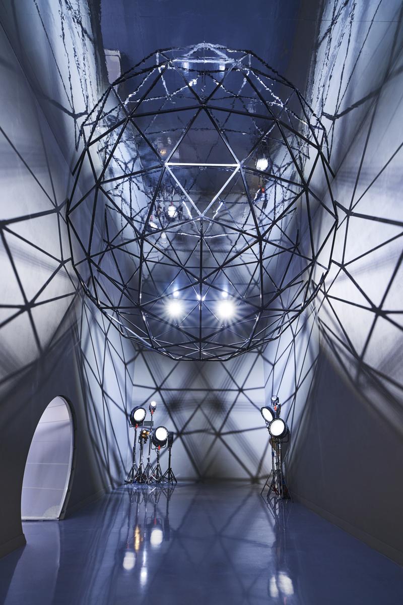 Bespoke Geodesic ceiling mounted installation